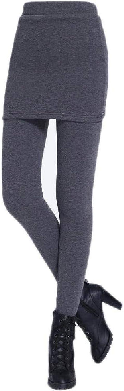 Basic Slim Thick Velvet Stretch High Waist Women Skirt Leggings Pencil Pants