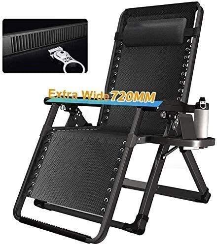 BATOWE Tumbona sillas reclinables sillas Grandes jardín con Gravedad Cero reclinado adecuados for el jardín porches con Ayuda Portable sillas de jardín for Acampar 200 Kg Silla balancín
