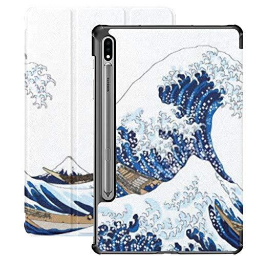 Funda para Galaxy Tab S7 Funda Delgada y Ligera con Soporte para Tableta Samsung Galaxy Tab S7 de 11 Pulgadas Sm-t870 Sm-t875 Sm-t878 2020 Release, Big Wave