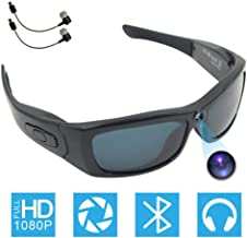 $59 » Bluetooth Camera Sunglasses Full HD 1080P Video Recorder Camera with UV Protection Polarized Lens, CAMXSW A Great Gift for Your Family and Friends, Black