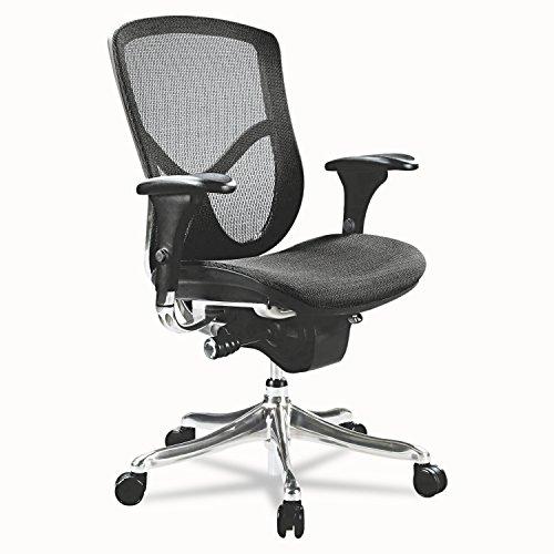 Alera EQ Series Ergonomic Multifunction Mid-Back Mesh Chair, Aluminum Base