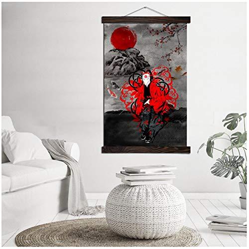 Japan Samurai Bushido Moderne Wall Art Print Pop Art Poster Opknoping Scroll Kunstwerk Canvas Schilderij Foto Woondecoratie