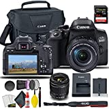 Canon EOS 850D / Rebel T8i DSLR Camera with 18-55mm Lens + Creative Filter Set, EOS Camera Bag + Sandisk Extreme Pro 64GB Card + 6AVE Electronics Cleaning Set, and More (International Model) (Renewed)