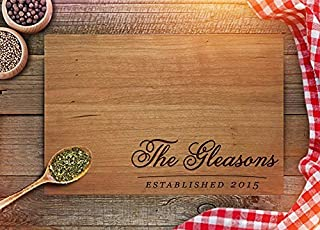 Custom Cutting Board - Wedding Gift for Couples - Engraved Cutting Board - Personalized board with Heart & Initials