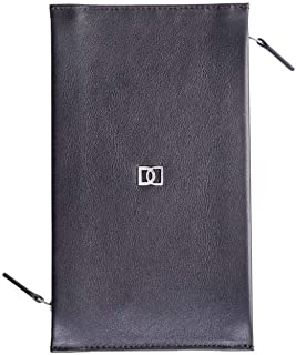 DUN Black Leather For Men - Zip Around Wallets