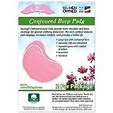 NuAngel 2 Piece Contoured Burp Pads, Gray, Large