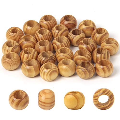 120 Pcs Natural Wooden Beads