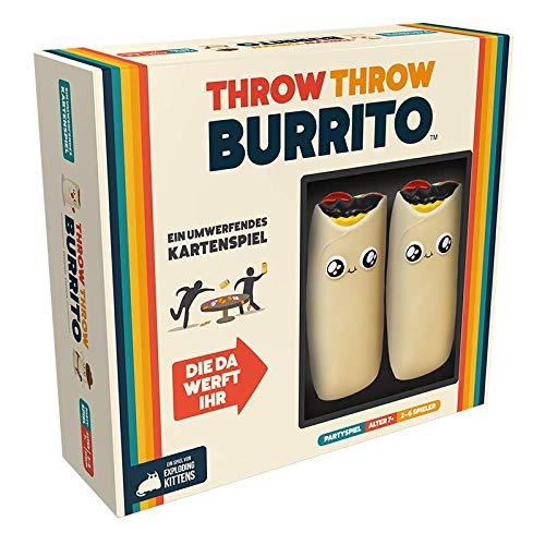 Asmodee ASMD0069 Throw Throw Burrito, Kartenspiel, Partyspiel, Deutsch
