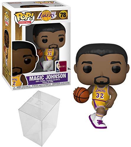 Magic Johnson Lakers: Funko Pop! Basketball Vinyl Figure Bundle with 1 PopShield Pop Box Protector