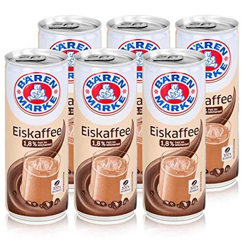 Bärenmarke Eiskaffee 0,25 Liter Dose - 1,8% Fett im Milchanteil - 100% Arabica (6er Pack)