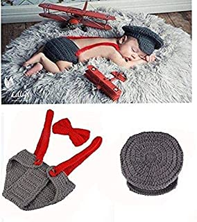 Newborn Baby Aviator Handmade Crochet Knitted Photography Props Outfit