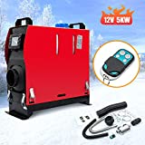 RANSOTO 12V 5KW Remote Control Diesel Air Heater Parking Heater Silencer with LCD Thermostat Monitor Compatible with Cars, RVs, Vans, Bus,Trailer and Trucks etc.