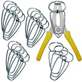 Feiyang Miter Spring Pliers and 16 Miter Clamps use for Wood Trim,Moldings,Picture Frames,Woodworking