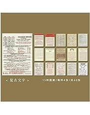 WEIGENG 60 piezas de guión retro con notas adhesivas, portátil, decoración para álbumes de recortes, papelería y suministros escolares, color K