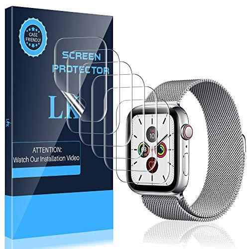 LK 6 Stück Schutzfolie Kompatibel mit Apple Watch Series 6 SE Series 5 Series 4 40mm, Kompatibel Blasenfreie Weich TPU Bildschirmschutzfolie Kompatibel mit iWatch Series 6 SE Series 5 Series 4 40mm