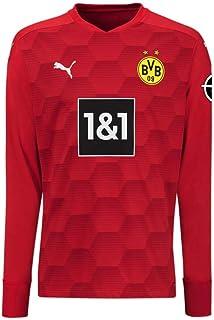 PUMA BVB Gk Shirt Replica Ls Jr with Sponsor Logo W/Opel Torwarttrikot