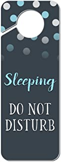 Graphics and More Sleeping Do Not Disturb Plastic Door Knob Hanger Sign