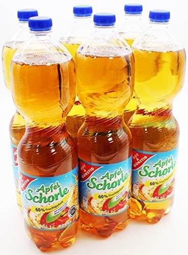 Gut und Günstig Apfelschorle, 6er Pack (6 x 1.5 l) EINWEG