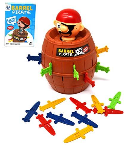 Barile dei pirati Gioco da tavolo d'azione classico pirata per bambini Gioco per famiglie in età prescolare per bambini Gioco d'azione