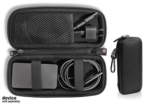 GETGEAR Laptop Charger case, Customized for Microsoft Surface, pro 2, with mesh Pocket for Microsoft Surface Arc Mouse, Flash Drive or Other Essential Accessories (Black)
