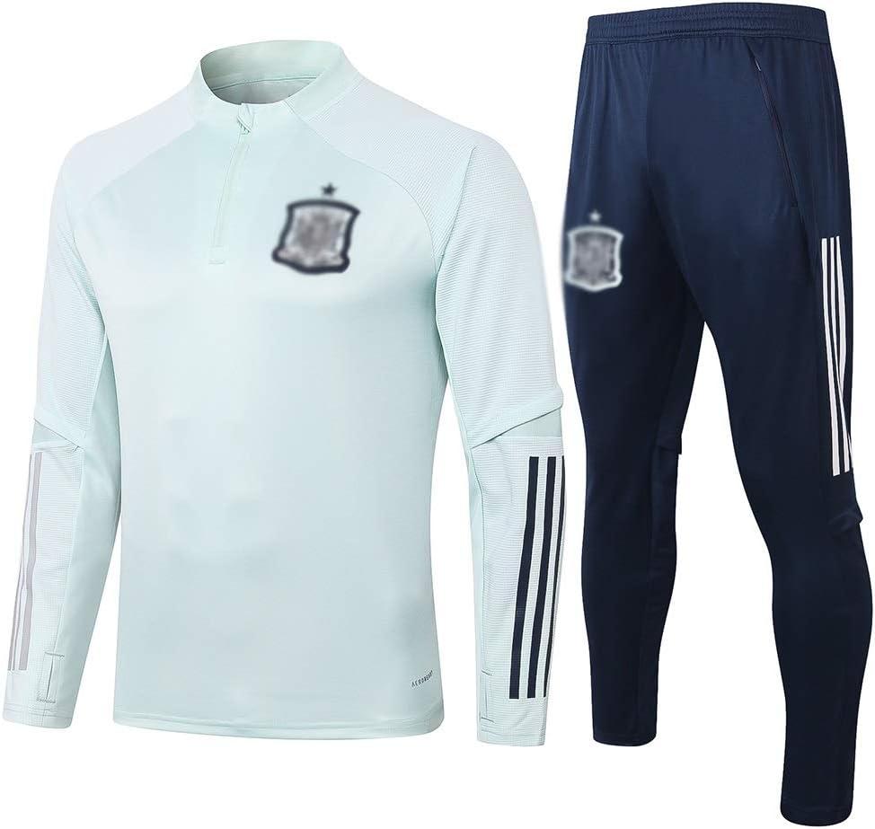 Size : S FHUA Traje Entrenamiento de f/útbol Club de Adulto Camiseta de la Juventud de Manga Larga y Pantalones de Jogging BreathableTop QL0515 Traje Ch/ándales Deportivos de F/útbol