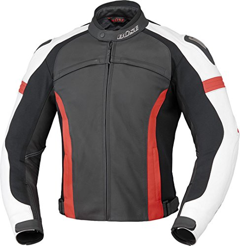Büse Vermont Motorrad Lederjacke 50 Schwarz/Weiß/Rot