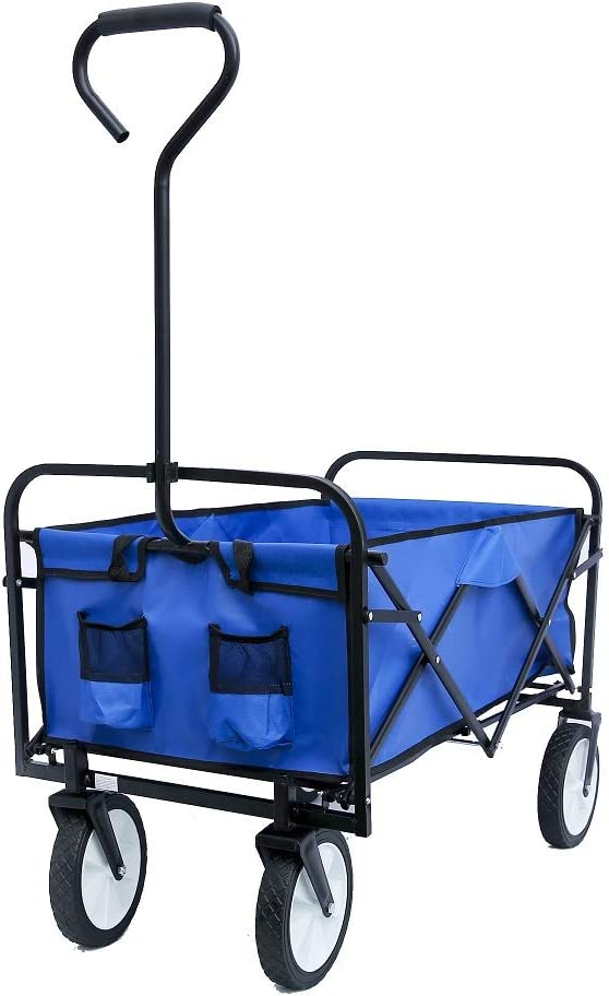 Collapsible Outdoor Utility Fees free Wagon Folding Year-end annual account Shopping Beach Garden