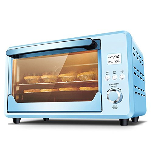 Find Bargain DULPLAY Toaster Oven,Mini,25l Large Capacity,Fully Automatic,Digital Dining,Countertop Oven Digital Convection Polished Stainless Toast Home Kitchen -Blue 47x37x28.5cm(19x15x11inch)
