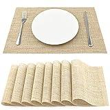 SueH Design Gewebte Platzsets/Tischsets 8er Set Vinyl 45 * 30 cm Streifen