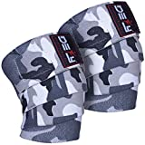 DEFY Sports Weight Lifting Knee Wraps (1 Pair) for Cross Training WODs, Gym Workout, Fitness & Power Lifting- Knee Straps Squats - for Men & Women- 72