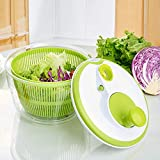 Mrt Pro Salad Spinner Large Multifunction 5L Design BPA Free,Manual Good Grips Crank Handle & Locking Fruits and Vegetables Dryer Dry Off & Drain Lettuce Quick Spinner