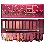 Urban Decay Naked Cherry Eyeshadow Palette, 12 Cherry Neutral Shades - Ultra-Blendable, Rich Colors with Velvety Texture - Set Includes Mirror & Double-Ended Makeup Brush