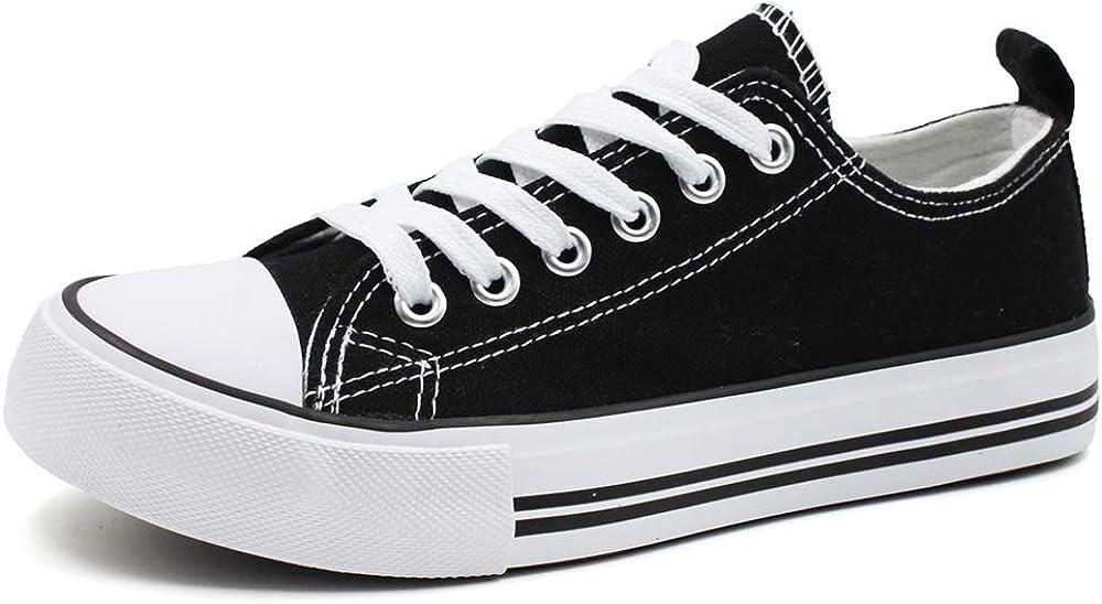 Epic Step Low Top Cap Toe Women Sneakers Tennis Canvas Shoes Casual Shoes for Women Flats Comfortable Walking Tennis Shoes