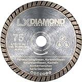LXDIAMOND - Disco de corte de diamante de 75 mm x 10 mm para baldosas de cerámica, azulejos de piedra natural, baldosas de gres de porcelánico, correa para amoladora angular de 76 mm