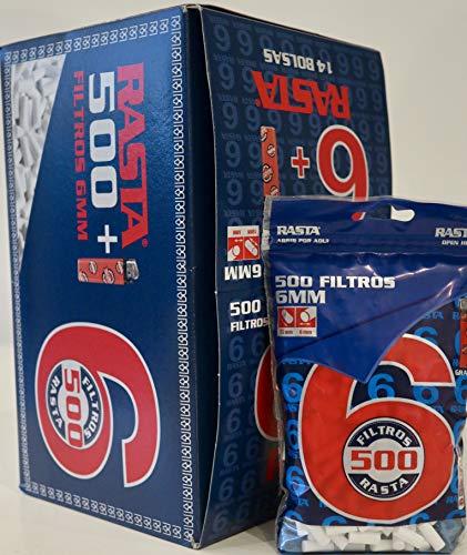 7000 filtros finos slim 6mm. Rasta, liar tabaco,14 bolsas de 500 filtros c/u.
