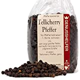 Tellicherry Pfeffer 100 Gramm ganz, lang gereifte Pfefferkörner, ohne Zusatzstoffe & ohne Geschmacksverstärker - Bremer Gewürzhandel