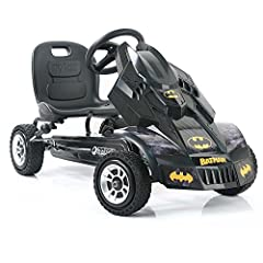 Sporty 3 point steering for responsive, quick steering. Adjustable bucket seat for multiple height kids. Race styled pedals with rubber wheels & 8 ball style brake for better grip and smooth ride. Handbrake for both rear wheels. Front cover panel in ...