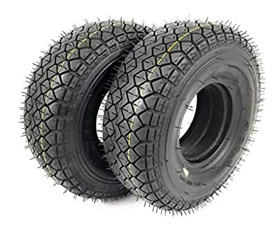2x 4.00-5 (330x100) Black Solid (Infilled) Mobility Scooter Tyres (Good Care) #NEW#