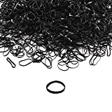 YOHAMA 1200 Pcs Mini Rubber Band, Black Hair Ties for Baby, Girls, Toddler, Kids Designs Hairstyles and Men Women Braids Little Tail.