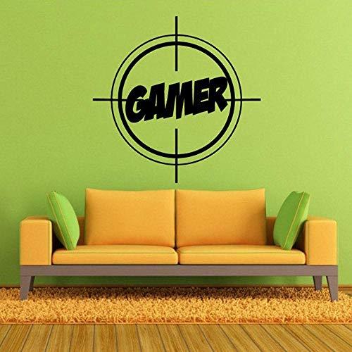 JXFM Muurstickers, elektrisch spel, PS4-speler, videospel, ter decoratie van het huis, voor kinderkamer, vinyl, wand, muurstickers, 57 x 57 cm