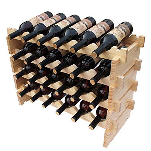 Support modulaire empilable de vin, étagères en bois d'affichage de support de vin de support de stockage, support de vin (Couleur : 4 floors)
