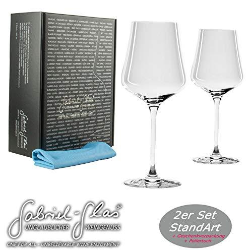 Gabriel-glas | Stand Edition in 6-delige set, wijnglas, 150 g, vaatwasmachinebestendig + superzachte poetsdoek