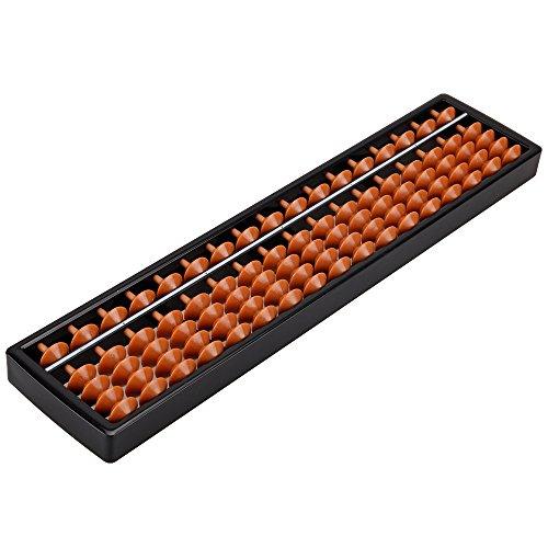 ZIJIA Portátil 17Columna Dígitos Abacus Aritmética Soroban En Matemáticas Aprendizaje de Ayuda...