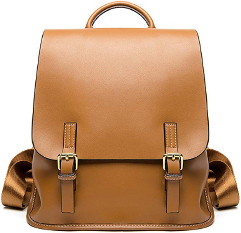 Babybug Neuer Campus -Rucksack Wild Fashion -Rucksack Woherren Bag Lightweight Simple Leather Backpack