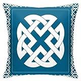SHUJIA Funda de cojín, diseño de nudo eterno que representa cuatro s Tierra fuego agua y aire, 45,7 x 45,7 cm
