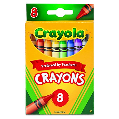 Crayola Nontoxic Crayons, 8 Count (Pack of 12)