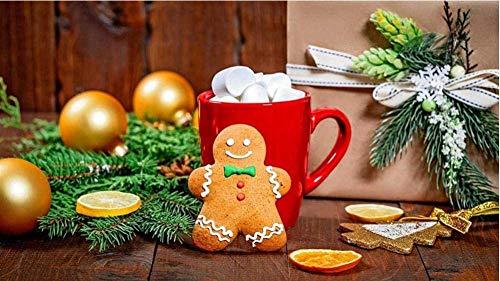 Digitaal schilderen Diy Olieverf op nummer Canvaskits Huismuur Decor voor volwassenen Beginner Kinderen - Snoepjes Peperkoek Warme chocolademelk Geschenk 16X20 inch Frameloos