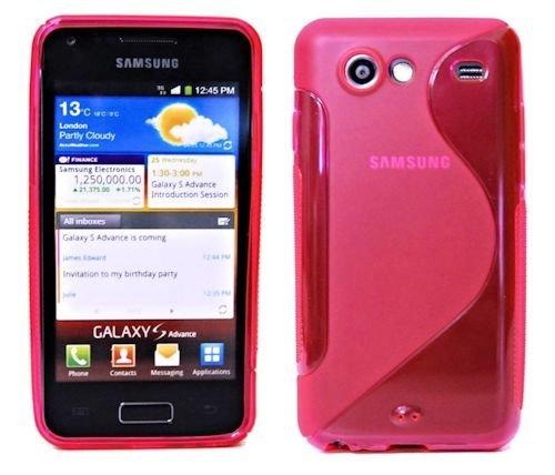 ENERGMiX S-Line TPU SchutzHülle Silikon Hülle Schale Handy Tasche kompatibel mit Samsung Galaxy S Advance i9070 Silikon Hülle in Pink