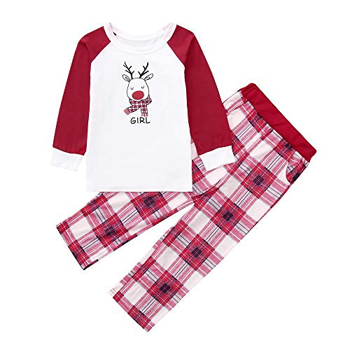 Best Price Franterd Christmas Family Matching Pajamas Set Mommy&Daddy&Me Xmas Long Sleeve Red De...