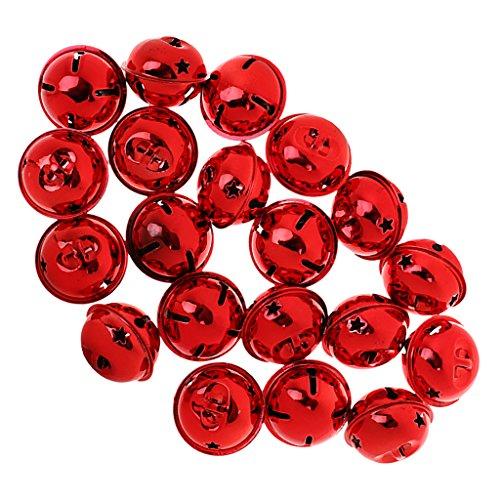 20pcs Cascabeles Bricolaje Decoración De Navidad Colgantes Artesanía - Rojo